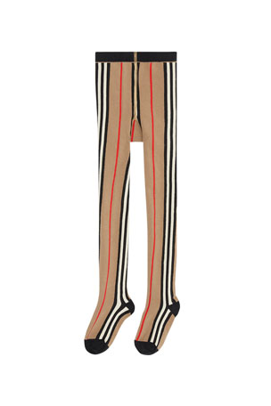 Burberry Girl's Icon Stripe Tights, Size 3-10