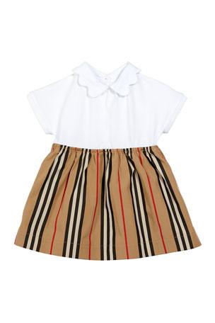 Burberry Girl's Janine Icon Stripe Bodysuit. Size 1-18 Months