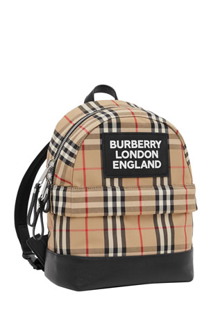 Burberry Kid's Small Nico Check Backpack
