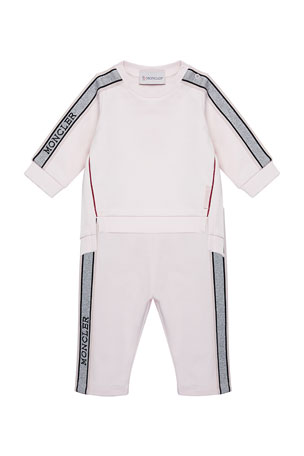 Moncler Girl's Glitter Tape Tunic w/ Leggings, Size 12M-3