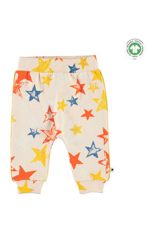 Molo Girl's Shona Super Stars Printed Sweatpants, Size 6-24 Months