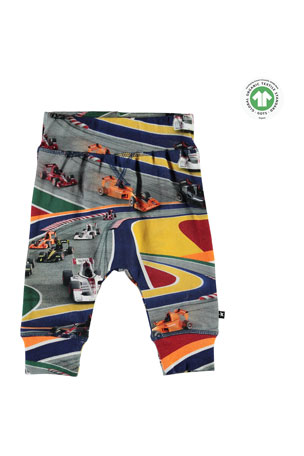 Molo Boy's Sammy Full Speed Printed Sweatpants, Size 6-24 Months