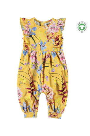 Molo Fallon Floral-Print Bodysuit, Size 3-18 Months