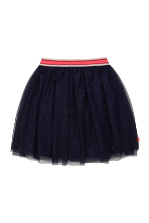 Billieblush Girl's Sparkle Tulle Skirt, Size 4-12