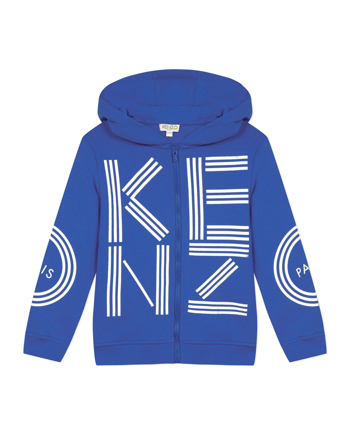 Kenzo Boy's Logo Print Zip-Front Hooded Jacket, Size 2-6