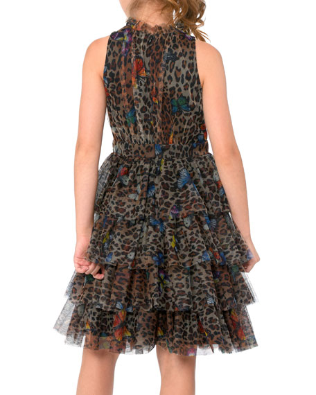 Image 3 of 3: Hannah Banana Leopard Butterfly Dress, Size 7-14