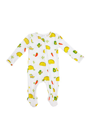 Angel Dear Taco Party Zipper Footie Playsuit, Size Newborn-24 Months