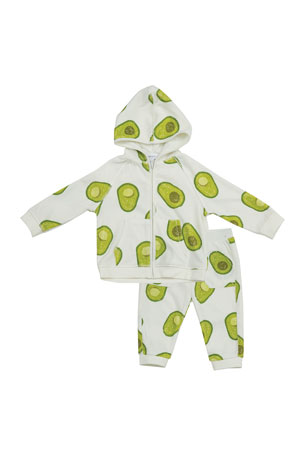 Angel Dear Avo Zip-Front Hoodie & Jogger Pants Set, Size 3-24 Months