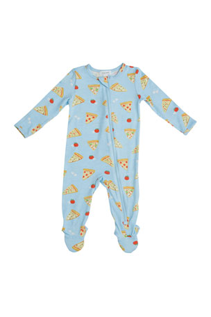 Angel Dear Kid's Pizza Zipper Footie Playsuit, Size Newborn-24 Months