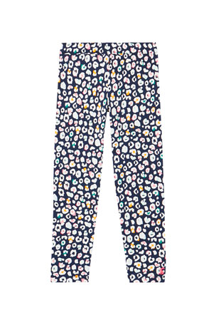 Joules Girl's Emilia Luxe Leopard-Print Leggings, Size 2-12