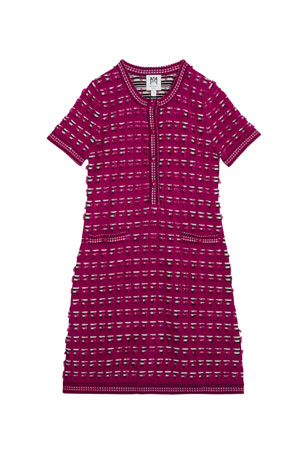 Milly Minis Girl's A-Line Tweed Fitted Dress, Size 7-16