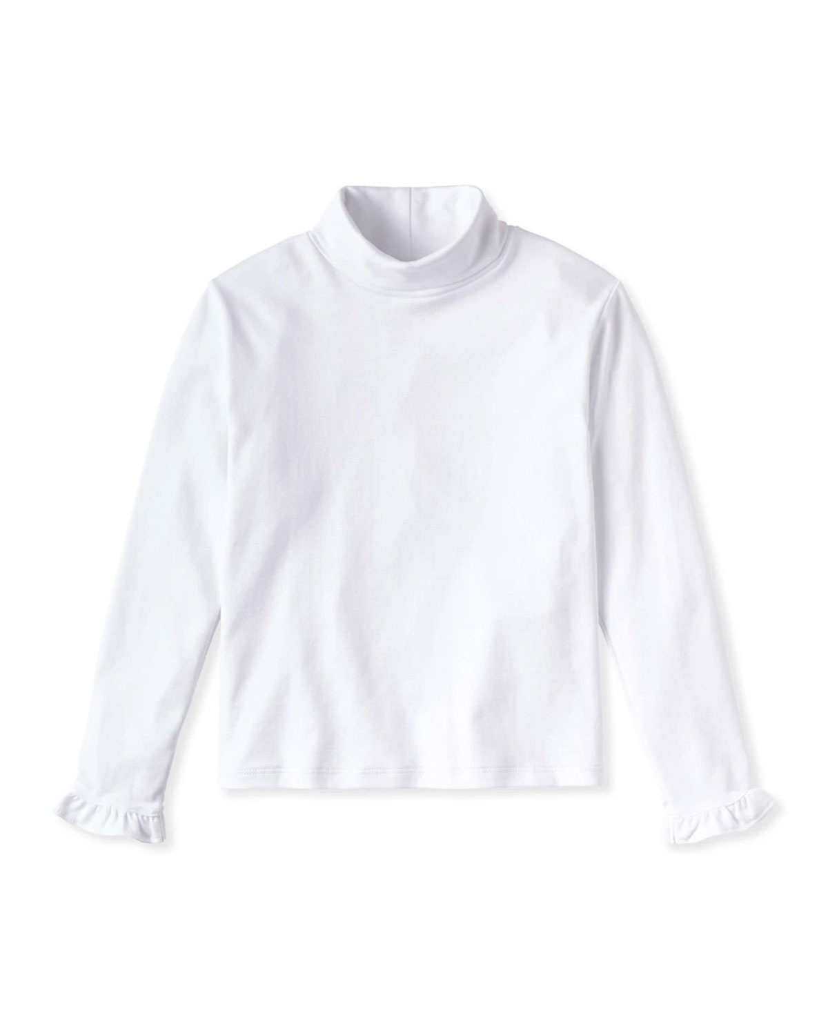 Classic Prep Childrenswear Girl's Eloise Ruffle-Sleeve Turtleneck Top, Size 6M-8