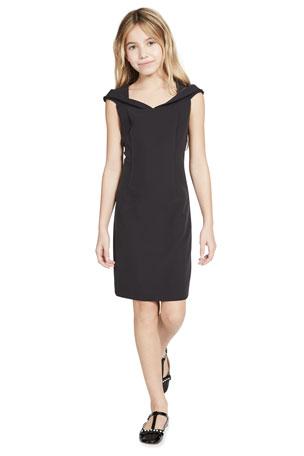 Milly Minis Girl's Rina Open Neck Cady Dress, Size 7-16