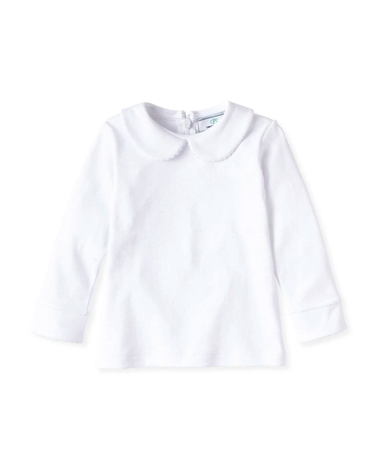 Classic Prep Childrenswear Girl's Isabelle Long-Sleeve Collared Shirt, Size 9M-8