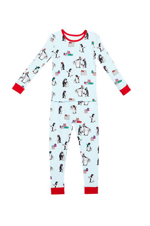 BedHead Pajamas Girl's Penguin Party Two-Piece Pajama Set, Size 2-12