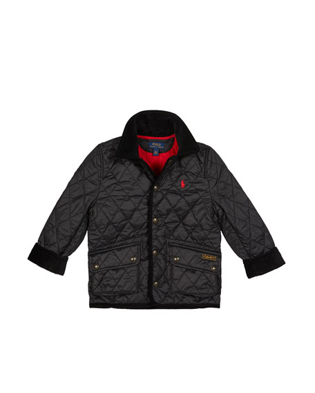 Image 2 of 2: Ralph Lauren Childrenswear Boy's Penny Kempton Quilted Puffer Car Jacket, Size 5-7