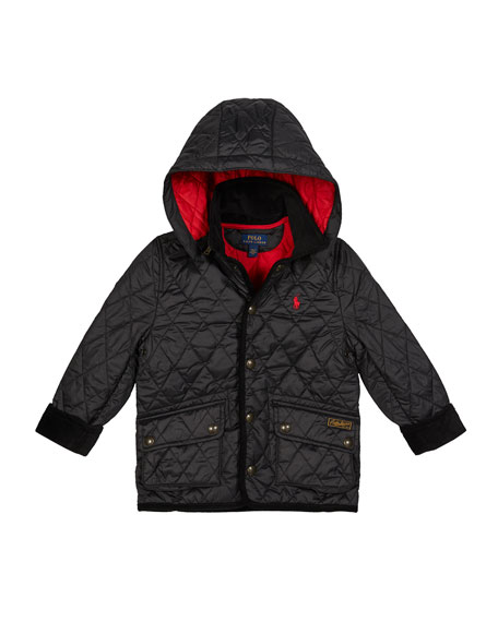 Image 1 of 2: Ralph Lauren Childrenswear Boy's Penny Kempton Quilted Puffer Car Jacket, Size 5-7