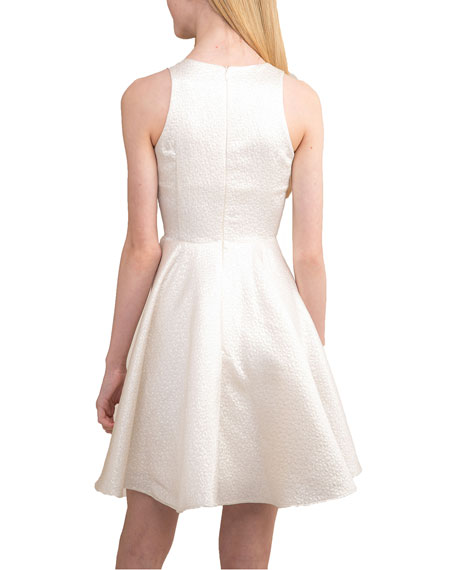Image 2 of 2: Un Deux Trois Girl's Iridescent Jacquard Racerback Dress, Size 7-16