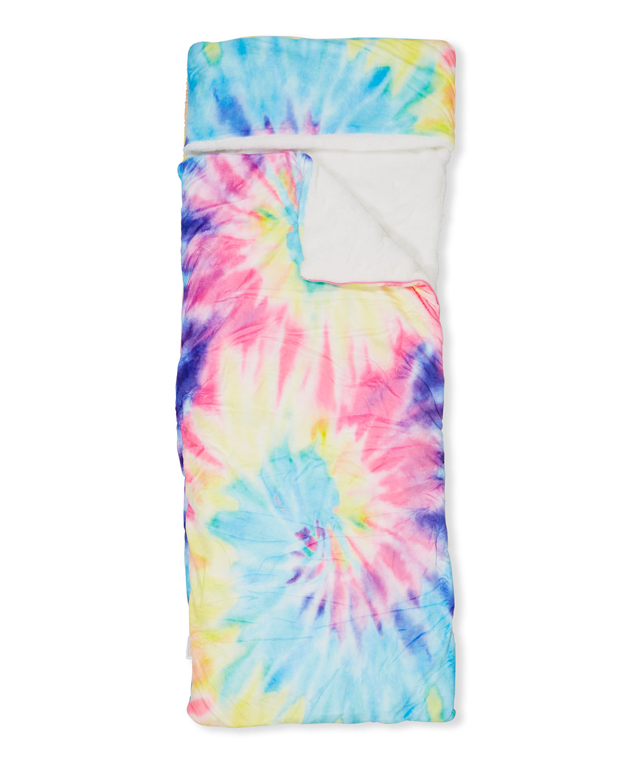 iscream Childs Tie Dye Pastels Double Layer Face Cover with Pocket