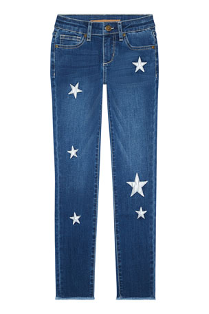 Joe's Jeans Girl's Luna Star Patch Skinny Denim Jeans, Size 7-16