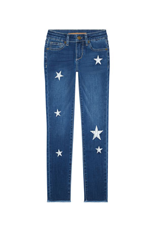 Joe's Jeans Girl's Luna Star Patch Skinny Denim Jeans, Size 2-6X