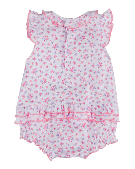 Image 2 of 2: Kissy Kissy Girl's Castle Couture Printed Bubble Romper, Size 3-24M