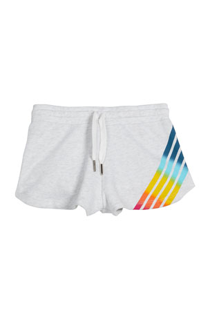 Flowers by Zoe Girl's Rainbow Striped Drawstring Shorts, Size S-XL