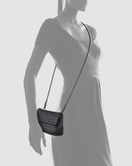 Woven Mini Crossbody Bag, Black