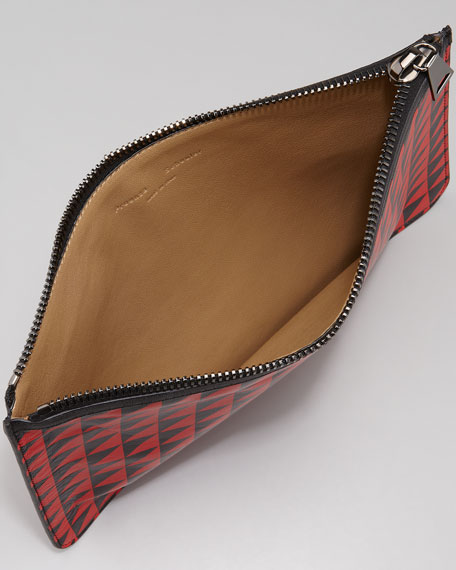 Triangle-Print Zip Pouch