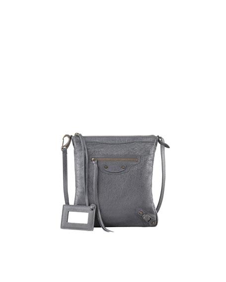 Classic Flat Crossbody Bag, Gris Tarmac