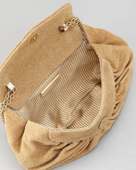 Diana Glitter Clutch Bag, Khaki