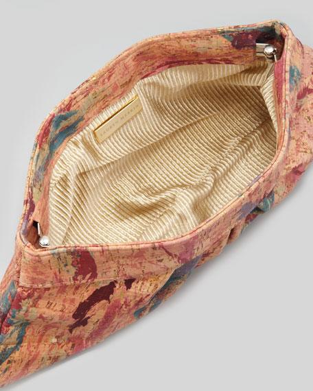 Louise Pleated Cork Clutch Bag