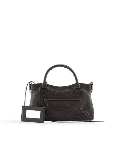 Balenciaga Classic First Satchel Bag, Black