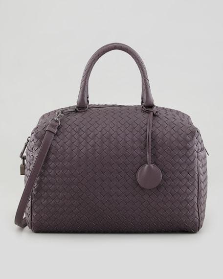 Large Boston Top-Handle Bag, Plum/Gray