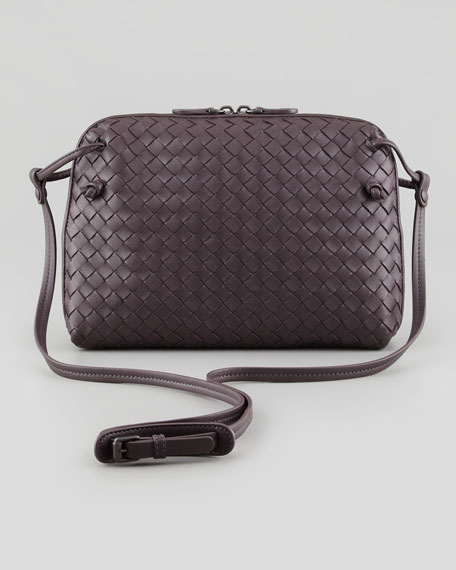 Veneta Small Crossbody Bag, Plum Gray