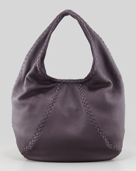 Cervo Hobo Medium Bag, Dark Lavender