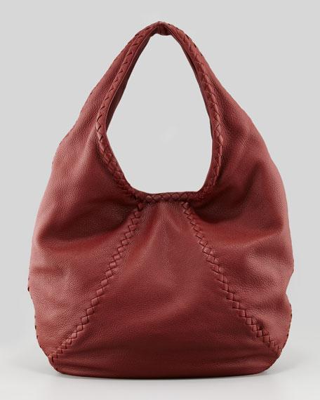 Cervo Hobo Medium Bag, Dusty Red