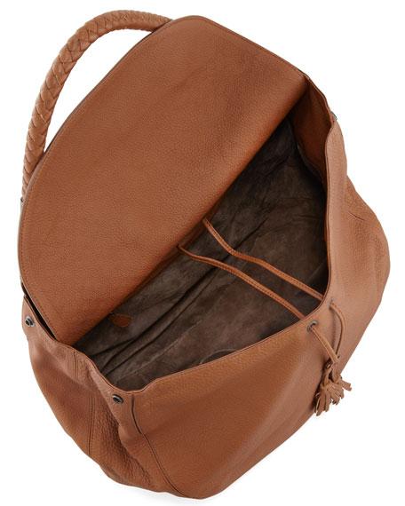 Cervo Maxi Shoulder Bag, Dark Brown