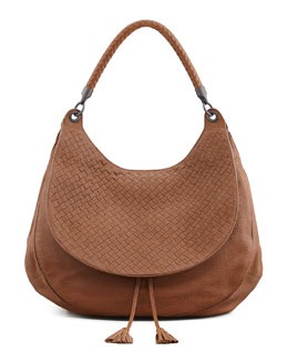 Bottega Veneta Cervo Maxi Shoulder Bag, Dark Brown