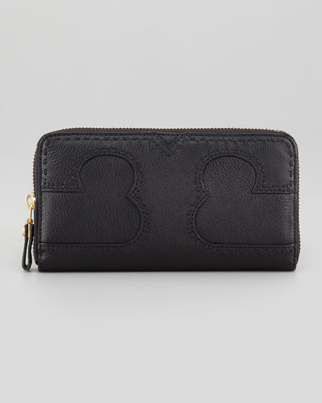 Amalie Zip-Around Logo Wallet, Black
