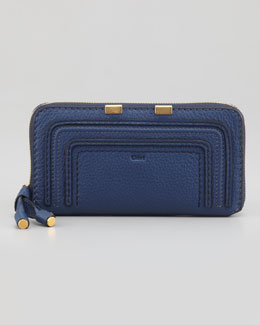 Chloe Marcie Continental Zip Wallet, Royal Blue