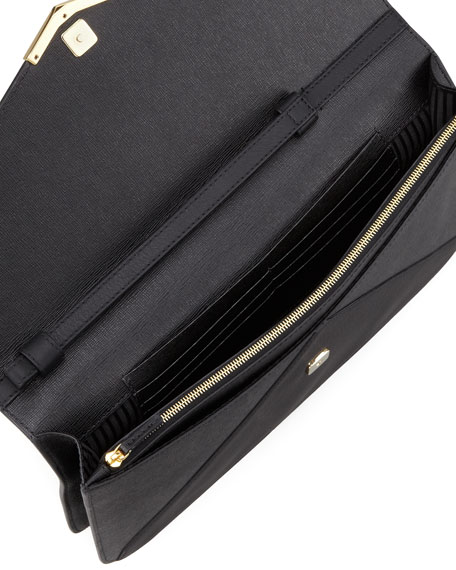 2Jours Large Clutch Bag, Black