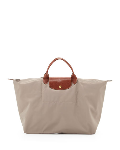 Le Pliage Large Travel Tote Bag, Clay