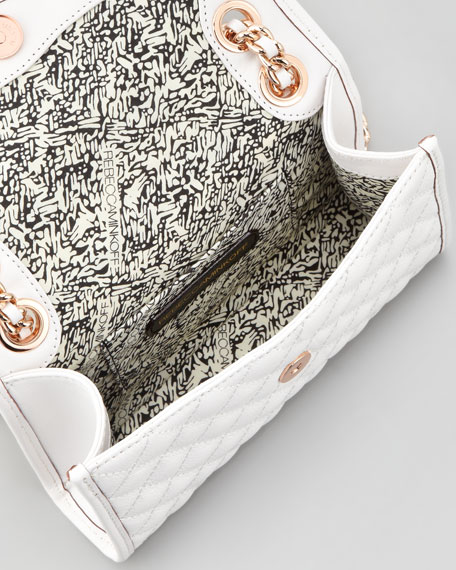 Quilted Affair Mini Shoulder Bag, White