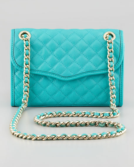 Quilted Affair Mini Shoulder Bag, Sea Green