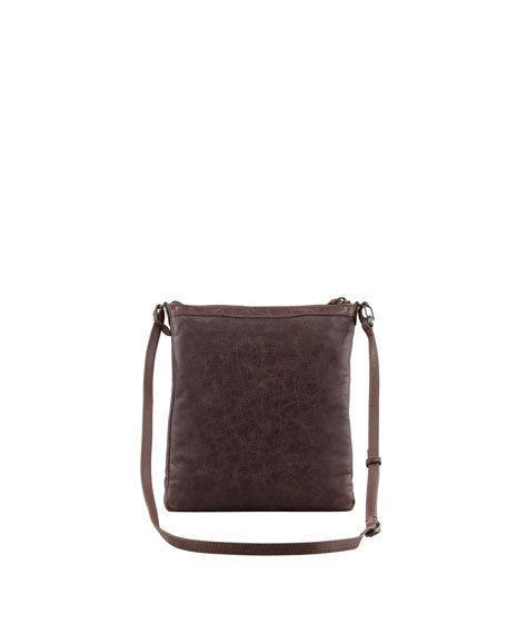 Classic Flat Crossbody Bag, Cigare Fonce