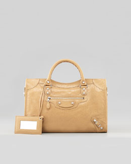 Balenciaga Giant 12 Nickel City Bag, Nougatine