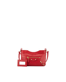 Balenciaga Giant 12 Golden Hip Crossbody Bag, Rouge Cardinal