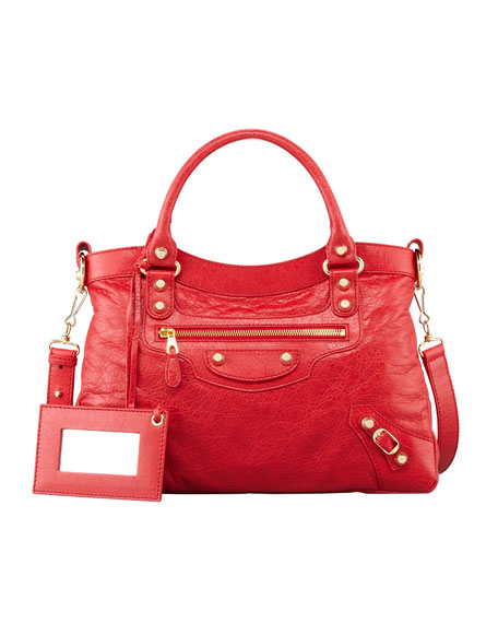 Giant 12 Golden Town Bag, Rouge Cardinal