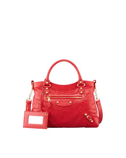 Balenciaga Giant 12 Golden Town Bag, Rouge Cardinal